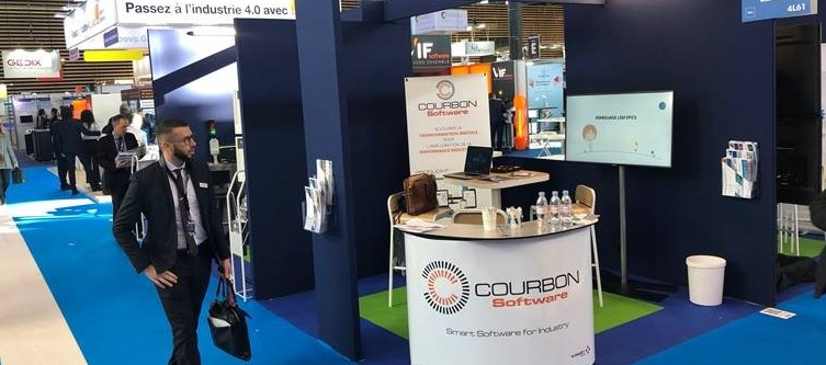 Salon Smart Industrie 2019 stand Courbon Software